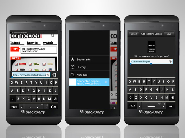 UsetheBlackBerry10Browser