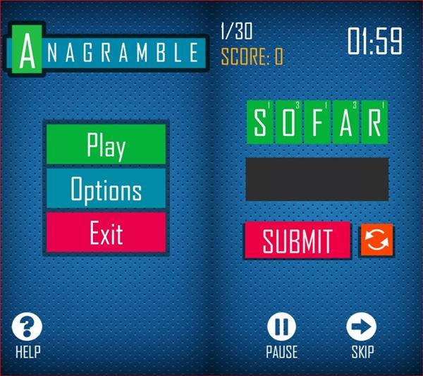 دانلود بازی بازی با لغات Anagramble برای BB10 2 4