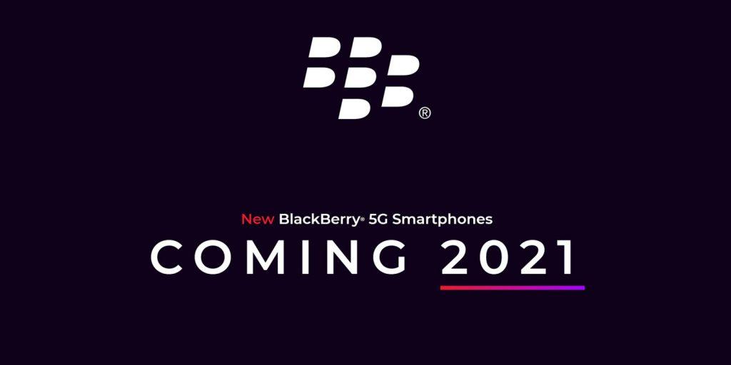 عرضه موبایل جدید 5G بلک بری در سال 2021